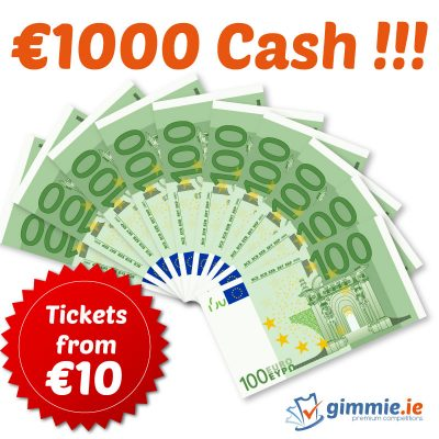 €1000 cash prize - gimmie.ie