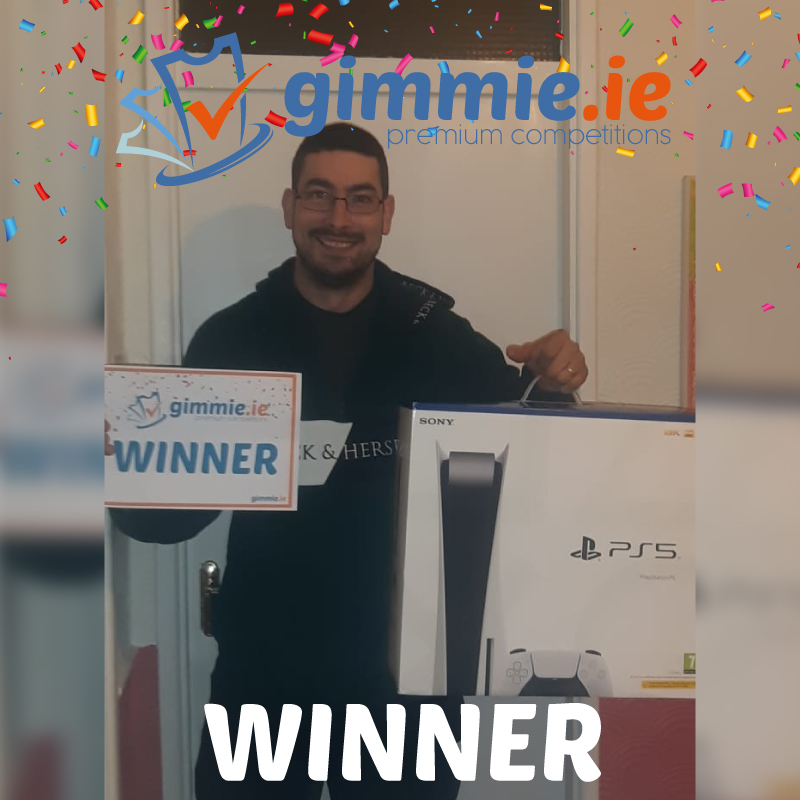 gimmie.ie competition winner